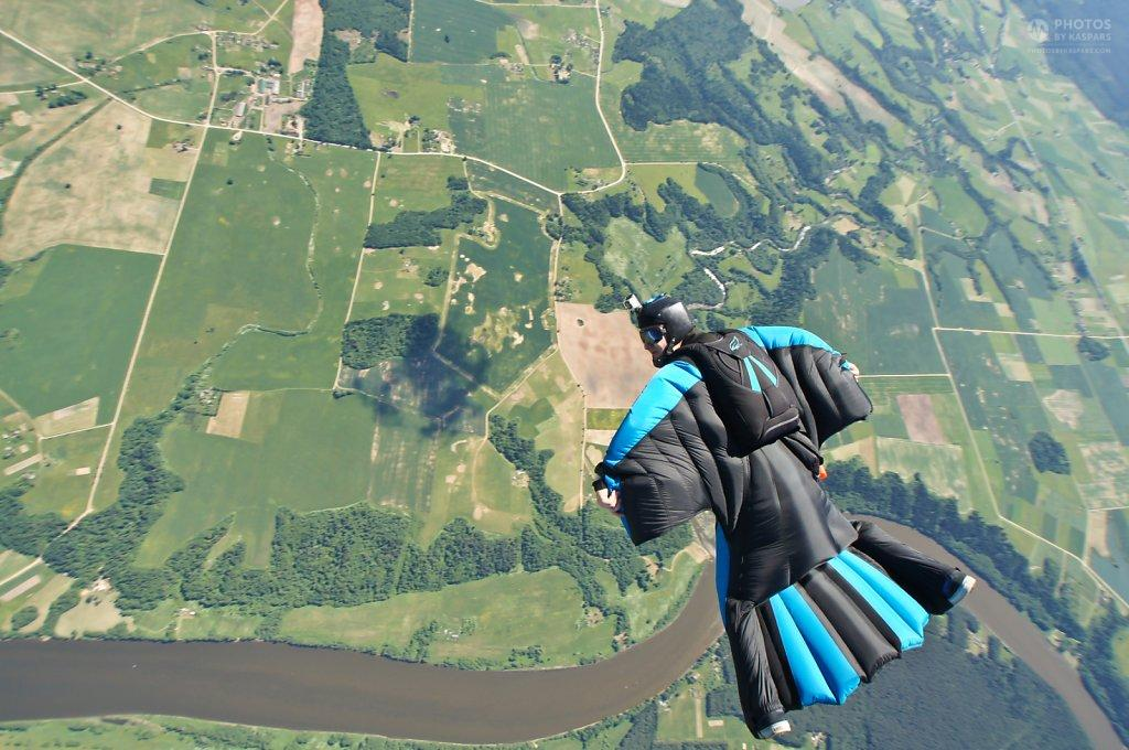 Wingsuit flying in Lithuania, Pociunai